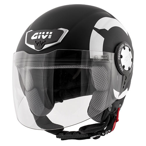 CASCO GIVI DEMI-JET 10.4 STARK Matt Black
