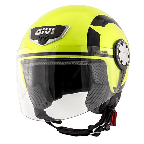 CASCO GIVI DEMI-JET 10.4 STARK Neon Yellow