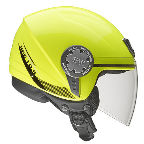 CASCO GIVI DEMI-JET 10.4F Neon Yellow