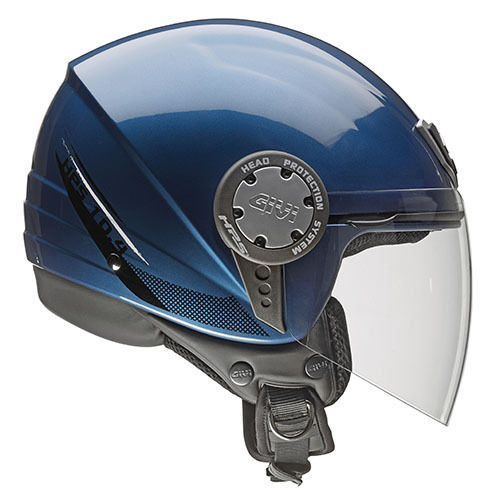 CASCO GIVI DEMI-JET 10.4F Metallic Blue